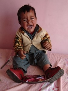 Zahedulla in Afghanistan in his Foot Abduction Brace