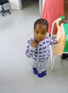Little girl awaiting treatment in Namibia